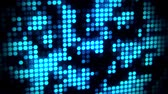 mancha : Blue Glowing Neon Hexagons Abstract Motion Background VJ Loop Stock Footage