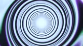 elektro : White Space Time Warp Tunnel Vortex Loopable Motion Background Stockvideo