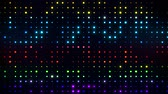 matriz : Colorful Glowing Digital Dots Code VJ Loop Motion Background Stock Footage
