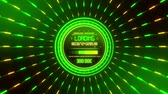 Green Data Loader Loopable Motion Graphic Background