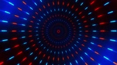 Blue Red Spinning Circles Loopable Motion Background Filmati Stock