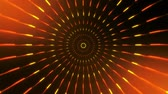 helezon : Orange Spinning Circles Loopable Motion Background Stok Video