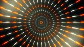 helezon : Orange White Spinning Circles Loopable Motion Background Stok Video