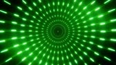 helezon : 2D Green Neon Circles Tunnel Loopable Background Stok Video