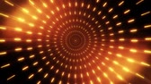 helezon : 2D Orange Gold Neon Circles Tunnel Loopable Background