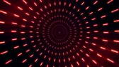helezon : 2D Red Neon Circles Tunnel Loopable Background Stok Video