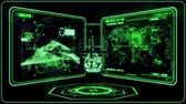 3D Green Helicopter HUD Interface Motion Graphic Element