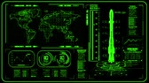 3D Green HUD Rocket Interface Motion Graphic Element