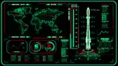 3D Red Green HUD Rocket Interface Motion Graphic Element