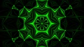 örvény : Green Kaleidoscope Background VJ Loop Abstract Background Stock mozgókép