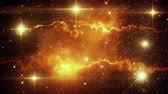 Orange Space Nebula & Stars Loopable Motion Graphic Background Archivo de Video