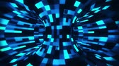 tubo : 3D Blue Sci-Fi Torus AI - Arificial Intelligence - VJ Loop Background