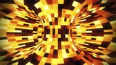 動的 : 3D Gold Sci-Fi Torus AI - Arificial Intelligence - VJ Loop Background