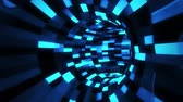 tubo : 3D Blue Sci-Fi Arificial Intelligence Tunnel - VJ Loop Motion Background