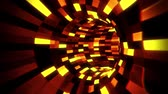 mesterséges : 3D Orange Sci-Fi Arificial Intelligence Tunnel - VJ Loop Motion Background