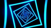 tunel : Blue Squares Tunnel VJ Loop Motion Graphic Background