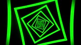 tunel : Green Squares Tunnel VJ Loop Motion Graphic Background