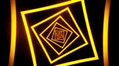 spektrum : Gold Squares Tunnel VJ Loop Motion Graphic Background
