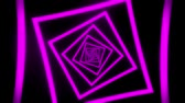 tunel : Purple Squares Tunnel VJ Loop Motion Graphic Background