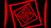 tunel : Red Squares Tunnel VJ Loop Motion Graphic Background Dostupné videozáznamy