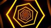 tunel : Orange Neon Hexagons Tunnel VJ Loop Motion Graphic Background