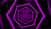 tunel : Purple Neon Hexagons Tunnel VJ Loop Motion Graphic Background Dostupné videozáznamy