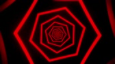 tunel : Red Neon Hexagons Tunnel VJ Loop Motion Graphic Background