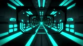 tunel : 3D Blue Hi-Tech Neon Tunnel Loop Motion Background