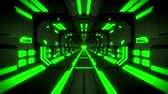 parede : 3D Green Hi-Tech Neon Tunnel Loop Motion Background