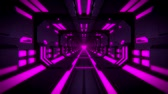 tunel : 3D Purple Hi-Tech Neon Tunnel Loop Motion Background