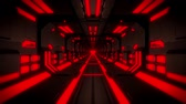 tunel : 3D Red Hi-Tech Neon Tunnel Loop Motion Background