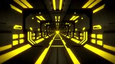 tunel : 3D Yellow Hi-Tech Neon Tunnel Loop Motion Background Dostupné videozáznamy