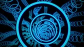 tunel : 3D Blue Sci-Fi Glowing Circles VJ Loop Motion Background Dostupné videozáznamy
