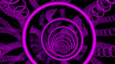 chodba : 3D Purple Sci-Fi Glowing Circles VJ Loop Motion Background
