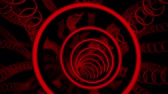 tunel : 3D Red Sci-Fi Glowing Circles VJ Loop Motion Background Dostupné videozáznamy