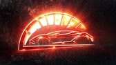 fire car : Red Sport Car Intro Logo with Reveal Effect Background