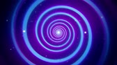 Blue Purple Hypnotic Spiral VJ Loop Motion Background