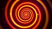 Orange Hypnotic Spiral VJ Loop Motion Background Filmati Stock