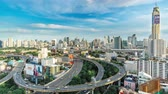 população : Timelapse of City Skyline, Bangkok, Thailand Bangkok is the capital city of Thailand and the most populous city in the country. Aerial view interchange of a city Stock Footage