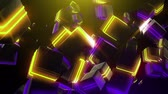 halogen headlamp : Abstract neon squares Stock Footage