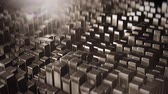 diamante : Background from the golden squares Stock Footage