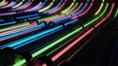 サイバー : Loop VJ neon lines running through pipes
