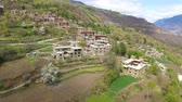 tibetano : AERIAL shot of Jiaju Tibetan Village,Sichuan,China Stock Footage