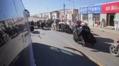 pastvisko : XINING - 06 JUL 2015: People are herding yak near Xining, Qinghai Province,China