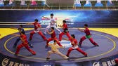 efsane : XI AN - JUN 16: Kungfu Show in a free combat match , Jun 16, 2013,Xian city, Shaanxi province, china.