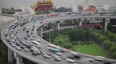Timelapse of traffic on Nanpu Spiral , Shanghai, China Stock Footage
