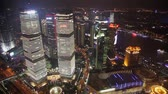 Timelapse of Traffic and cityscape of Shanghai at night , Shanghai, China