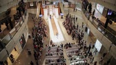 garment : SHANGHAI - SEP 06:View of fashion show in Interior of shopping mall, Sep 06, 2013, Shanghai city, china. Stock Footage