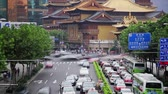 congestionamento : Timelapse of rush hour traffic in Jingan District , Shanghai, China Vídeos