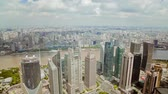 pearl : Timelapse of Shanghai Lujiazui financial district and Huangpu river , Shanghai, China